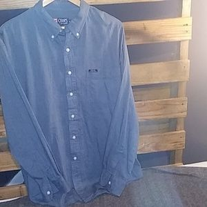 Button down long sleeve mens shirt
